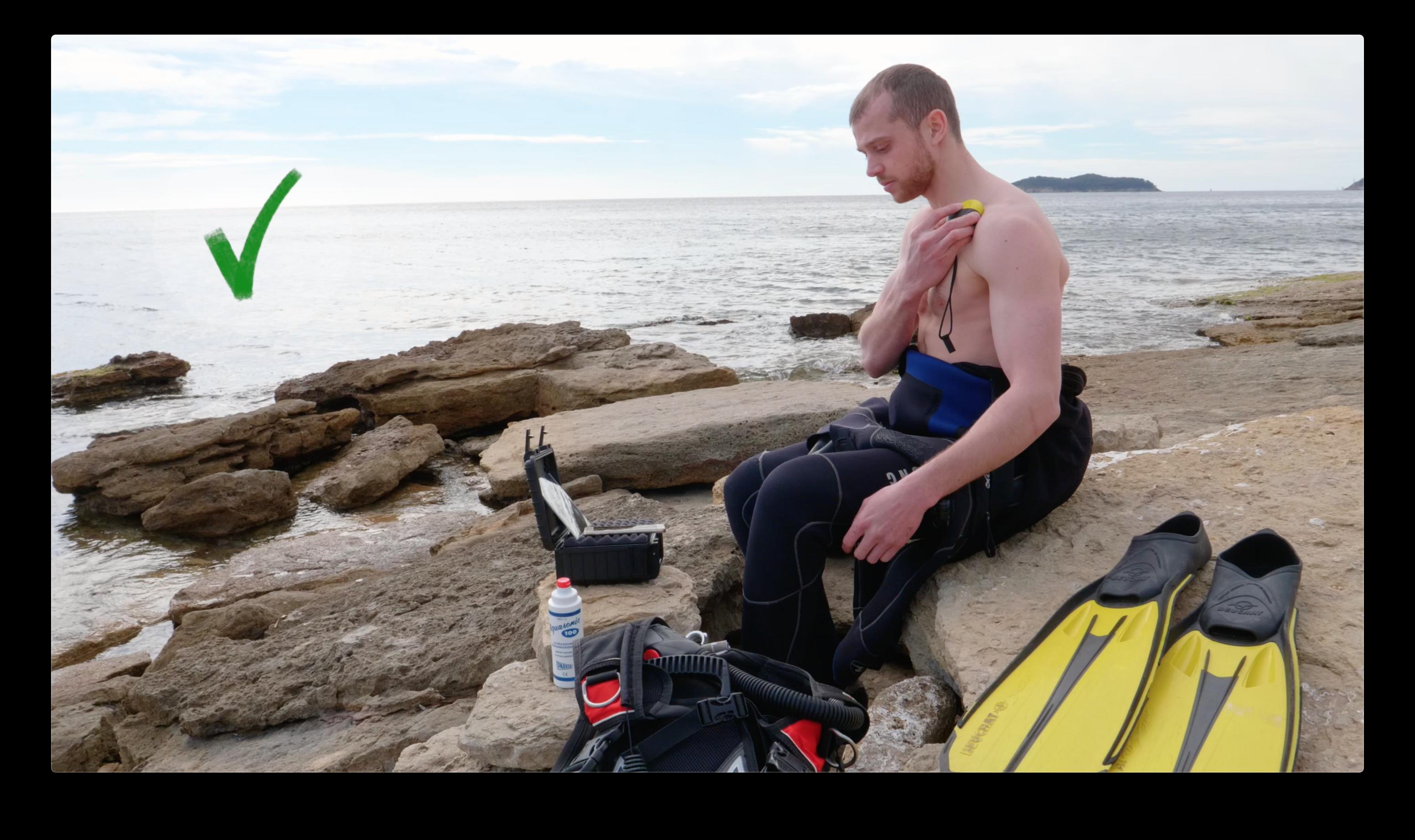 Diver testing O'dive dopler